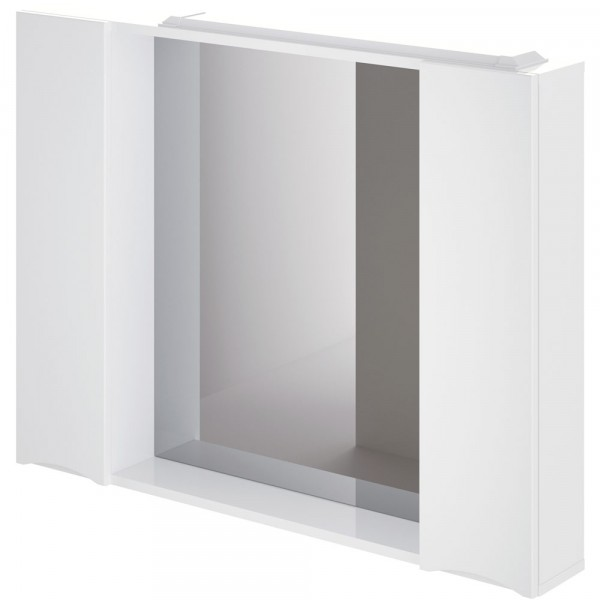 Фото - шкаф-зеркало итана мишель 100 (глянцевый белый) шкаф навесной для прачечной распашной итана 600х388х400 белый