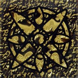 Вставка Звезда Рифленая Золото 6,6*6,6 Золотой