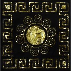 Напольная вставка Византия Рифленая Золото 6,6*6,6 Золотой
