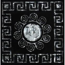 Напольная вставка Византия Рифленая Платина 6,6*6,6 Серебряный