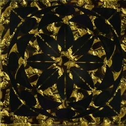 Напольная вставка Лиано Рифленая Золото 6,6*6,6 Золотой