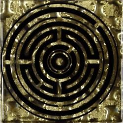 Вставка Лабиринт Рифленая Золото 6,6*6,6 Золотой