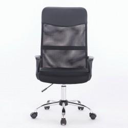 Кресло Brabix Tender mg-330, с подлокотниками, хром, черное, 531845