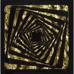 Вставка напольная КВАДРАТ 6,6*6,6 Золотой