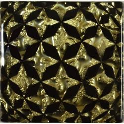 Вставка напольная СФЕРА Рифленная 6,6*6,6 Золотой