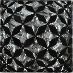 Вставка напольная СФЕРА Платина Рифленая 6,6*6,6 Золотой