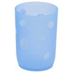 Стакан для ванной комнаты Спираль, синий, пластик SWTP-0007B
