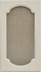 Фасад со стеклом 712*396 МДФ беленый дуб