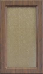 Фасад со стеклом 712*396 МДФ мор. береза