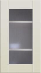 Фасад со стеклом 712*396 МДФ ваниль
