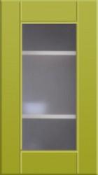 Фасад со стеклом 712*396 МДФ олива глянец