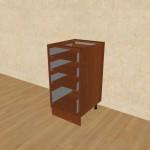 Шкаф-стол рабочий с 4 ящиками C400 Я4 орех