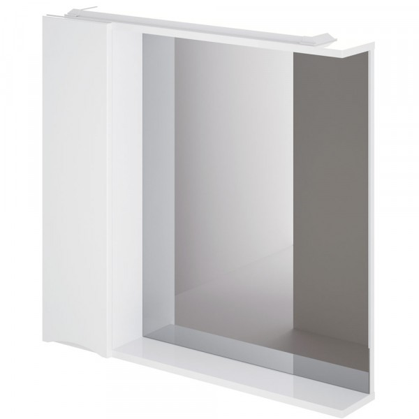 Фото - шкаф-зеркало итана мишель 80 левый (глянцевый белый) шкаф навесной для прачечной распашной итана 600х388х400 белый