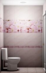 Декор 40*25 массив Букет розовый 664