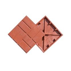 Плитка тротуарная полимерпесчаная цвет красный, 250 х 250 х 20 мм