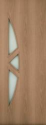 Полотно дверное ЛР-15-600 миланский орех с фьюзингом