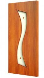 Полотно дверное ЛР-21-800 миланский орех с фьюзингом