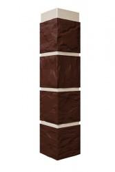 Угол наружный к фасадной панели FineBer 0,47м Камень коричневый
