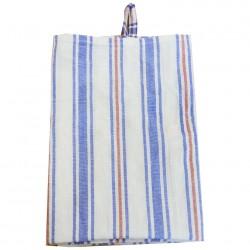 Полотенце кухонное 50*60 Ткань полотенечная ПОЛОСА (703096) Красная с каймой