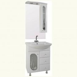 Комплект мебели 65см IKA Рона клен танзай, белый