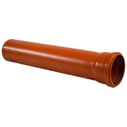 Труба канализационная наружная 110*3,4*500мм РТП