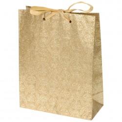 Пакет подарочный 18*23см золотой А59100020