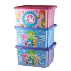 Ящик для игрушек ФИКСИКИ 30л