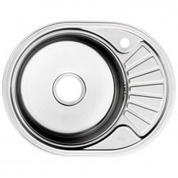 Мойка кухонная нерж. сталь, SUN60PRi77 IDDIS, полир., чаша справа, 600*470, Suno S