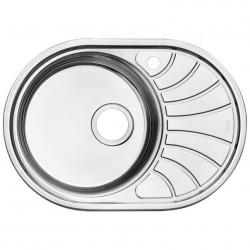 Мойка кухонная нерж. сталь, SUN65PRi77 IDDIS, полир., чаша справа, 650*460, Suno S