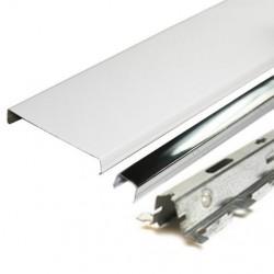 Комплект реечного потолка д/ванной 1.7х1.7м AN85A белый с раскладкой супер-хром