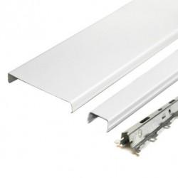 Комплект реечного потолка д/ванной 1.7х1.7м AN85A белый глянец с раскладкой белый глянец