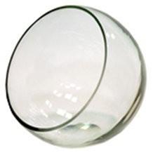 Ваза h=13см АНАБЕЛЬ шаровая с косым резом, стекло