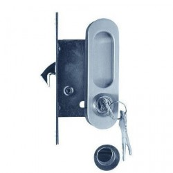 Ручка для раздвижных дверей A-K01/02V1HH белый никель, ключ/завертка