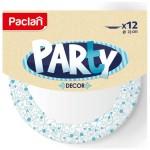Тарелка бумажная PARTY DECOR ЭКО, цветная, 230мм /12шт/ 430200