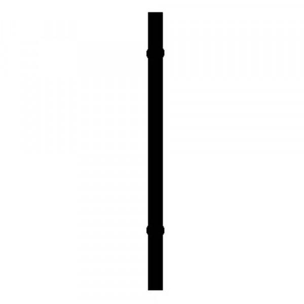 столб с креплением d-45 мм 2.3 м столб для забора 62х55х1 4 мм 2 5 м оцинкованный