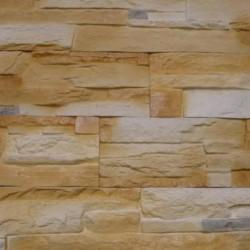 Камень интерьерный Сланец универсальный фисташковый с коричневым мрамором