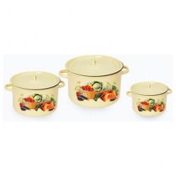 Набор посуды эмалированной 3 пр. №33 1с33