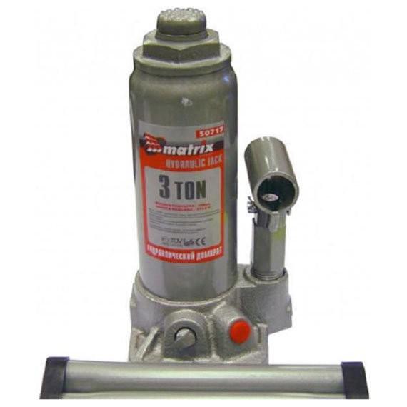 домкрат гидравлический бутылочный 3т h194-372мм matrix 50717