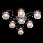 Светильник Галоген 4998/7 хром/синий+ красный+фиолетовый G4 7*20Вт пульт