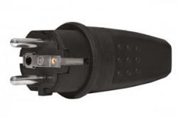 Вилка электрическая с/з 16А каучук 602227