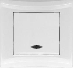 Выключатель 1кл Magenta с/у с подсветкой белый V01-11-V12-S