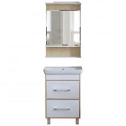 Комплект мебели 60см IKA Гаронна клен танзай, белый
