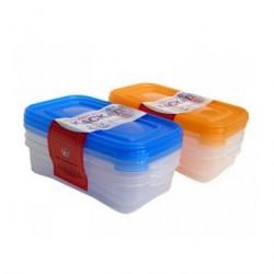 Набор контейнеров для СВЧ КАСКАД 3шт 0,7л C54001