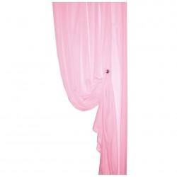 Тюль вуаль однотонная 457/24 3,0*2,5м, на тесьме розовый