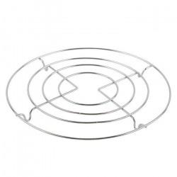 Подставка под горячее круглая, d=20см, хром MX-040