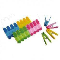Прищепки для белья пластик. цветные /20шт/ R102402