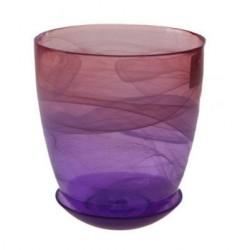 Горшок №3 93-026 14,5*15см Алебастр крашеный розово-фиолетовый 4840155096