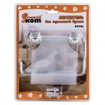 Держатель для туалетной бумаги B0926 хром. металл, пластик, крепление шуруп
