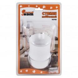 Стакан для ванной комнаты B0921 подвесной  хром. металл, пластик, крепление шуруп