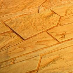Камень интерьерный Сланец пластинчатый золотисто-коричневый мрамор